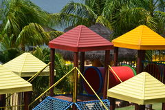 Colored roofs. In park brazilian Royalty Free Stock Photo