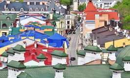 colored rooftops Stock Image