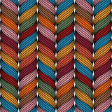 Colored rope pattern Royalty Free Stock Photos