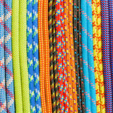 Colored ropes and cords. Royalty Free Stock Images