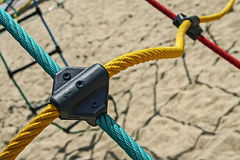 Colored ropes fastened together 1 royalty free stock image