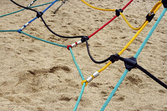 Colored ropes fastened together 2 Stock Photo