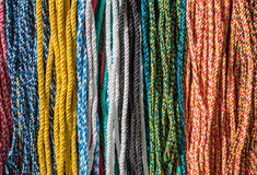Colored ropes Stock Images
