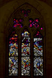 The colored rose window Royalty Free Stock Photos