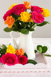 Colored roses Stock Image