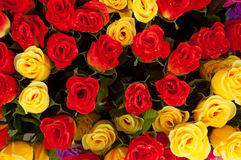 Colored Roses on Sale in Market, Noumea Royalty Free Stock Photography