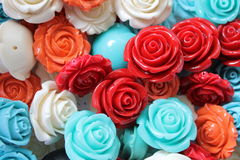Colored roses stones. As background royalty free stock image
