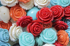 Colored roses stones Royalty Free Stock Photo