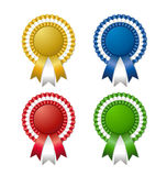 Colored rosettes Royalty Free Stock Images