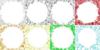 Colored round border background design set with circles. Colored abstract round border background design set with circles Stock Photo