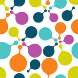 Colored round bubbles repeat pattern. Royalty Free Stock Photos