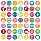Colored round icon set Stock Photo
