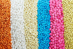 Colored round medicine tablet antibiotic pills Stock Images