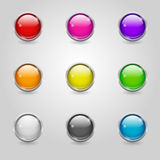 Colored Round Web Buttons Royalty Free Stock Photos