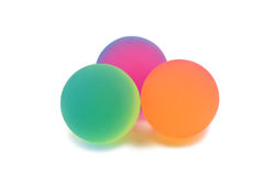 Colored rubber balls Stock Photography