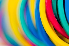 Colored rubber bands close up Stock Photo