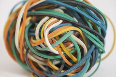 Colored rubber bands Royalty Free Stock Images