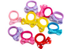 Colored rubber bands for hair Royalty Free Stock Photo