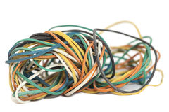 Colored rubber bands Royalty Free Stock Photography