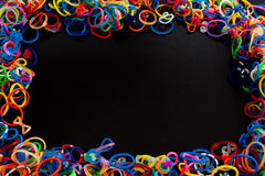 Colored rubber bands Stock Photos