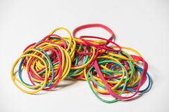 Colored rubber bands Royalty Free Stock Image