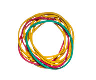 Colored rubber bands Stock Images