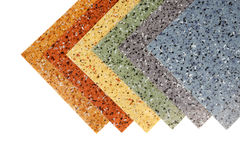 Colored rubber flooring samples Royalty Free Stock Photos