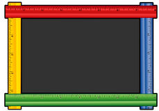 Colored Ruler Chalkboard Stock Photography