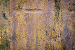 Colored rusty iron wall Stock Image