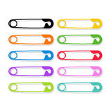 Colored safety pins as a symbol of human rights Royalty Free Stock Image