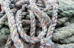 Colored sailor ropes Stock Photos