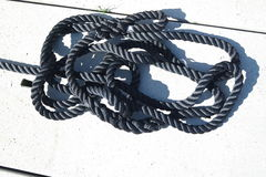 Colored sailor ropes Stock Images