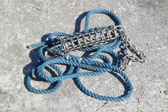 Colored sailor ropes Royalty Free Stock Images