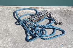 Colored sailor ropes Royalty Free Stock Image