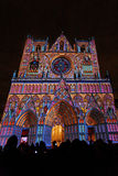 Colored Saint Jean Cathedral Royalty Free Stock Images
