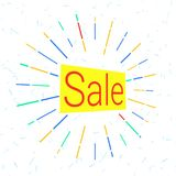 Sale logo that attracts attention. Colored Sale logo that attracts attention. vector illustration. background for promotions, discounts, promotions, tags Royalty Free Stock Photos