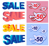 Colored sale set Royalty Free Stock Photo