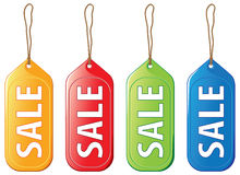 Colored sale tags Stock Images