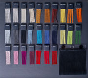 Colored samples of fabric Stock Photo