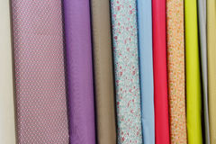 Colored samples of textile products Royalty Free Stock Photography
