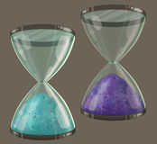 Colored sand clock Royalty Free Stock Photo