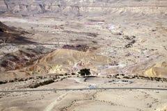 Colored sand in Makhtesh Katan, Israel Royalty Free Stock Image