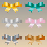 Colored satin bows Royalty Free Stock Photography