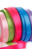 Colored satin ribbons in a roll  Royalty Free Stock Photo