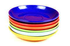 Colored saucers Royalty Free Stock Image