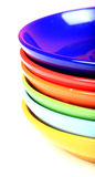 Colored saucers Royalty Free Stock Images