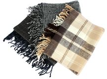 Colored scarf. Beautifull colored scarf isolated on white background Stock Photo