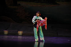 A colored scarf- Jiangxi opera a steelyard Stock Photo
