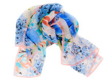 Colored scarf rolled up in a ball Royalty Free Stock Image