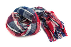 Colored scarf on white Royalty Free Stock Images